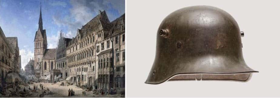 Style Hannover Patenschaft Freunde des historischen Museums Stahlhelm Gemälde - Ein Stück Hannover zu haben!