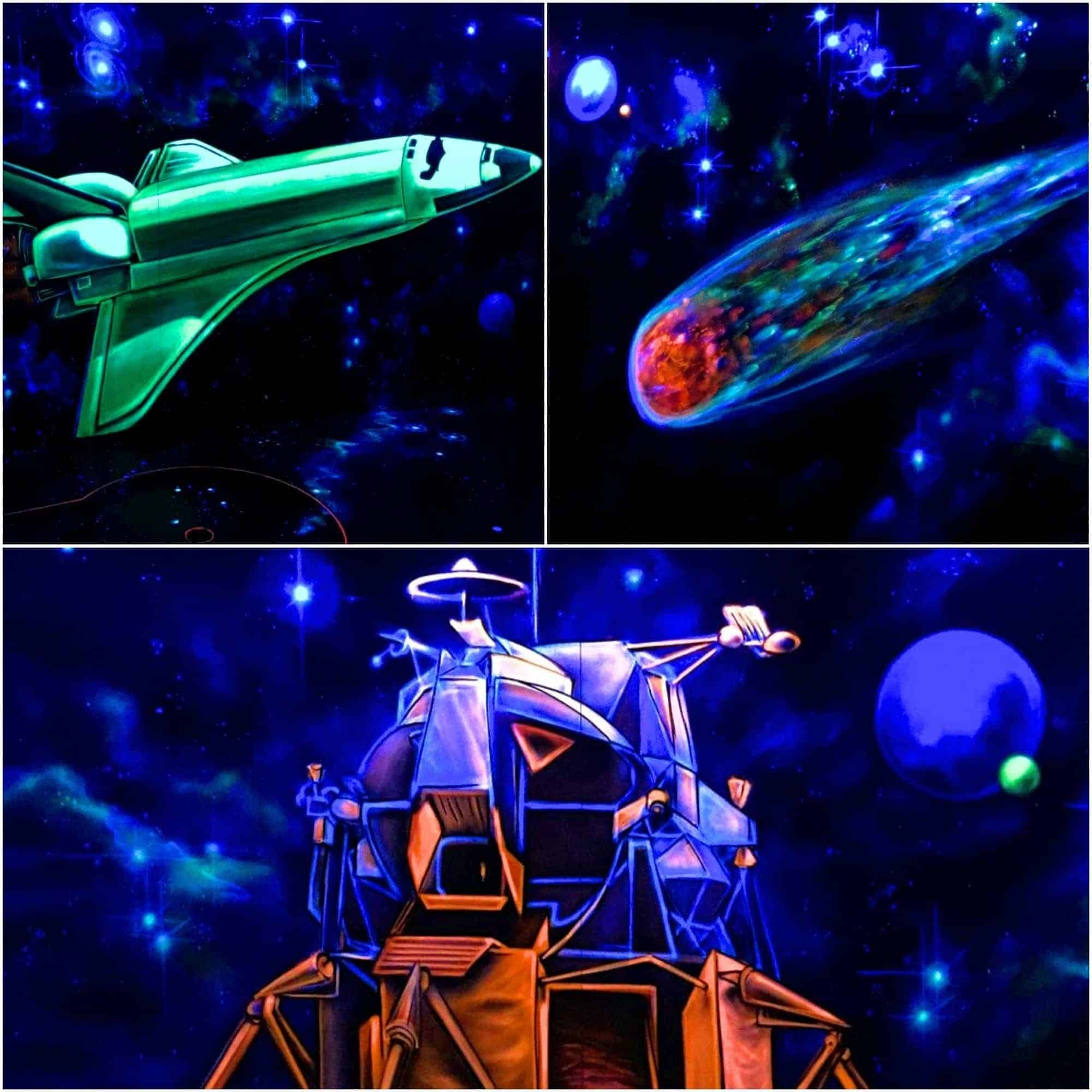 Style Hannover Neongolf Weltall - NeonGolf = Minigolf 4.0