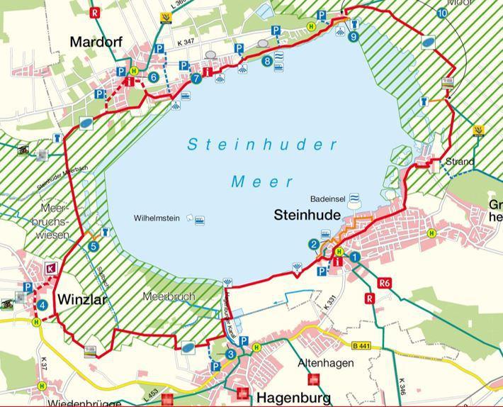 Style Hannover Radkarte Steinhuder Meer 1 - Steinhuder Meer Rundweg - Rad & Co.
