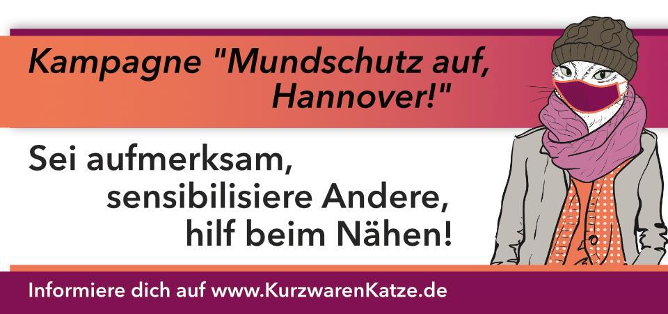 style hannover katrin kurzwarenkatze mundschutz kampagne 3 - Kurzwarenkatze - Kampagne: Mundschutz auf, Hannover