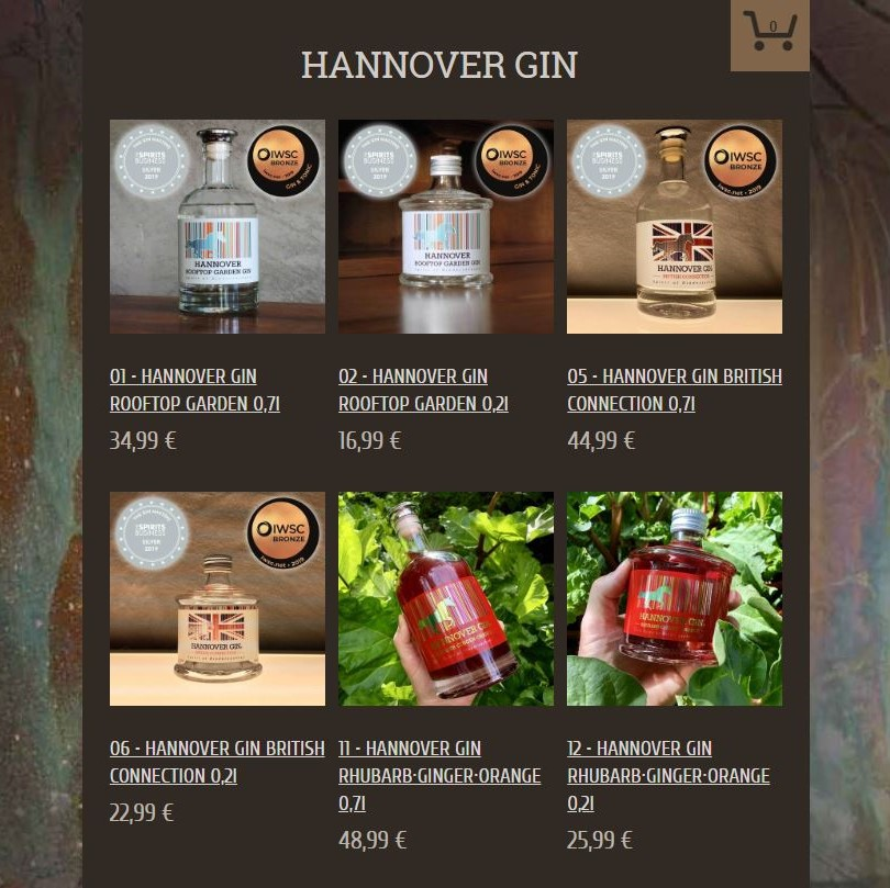 Style Hannover Hannover Gin Online Shop - Support your locals