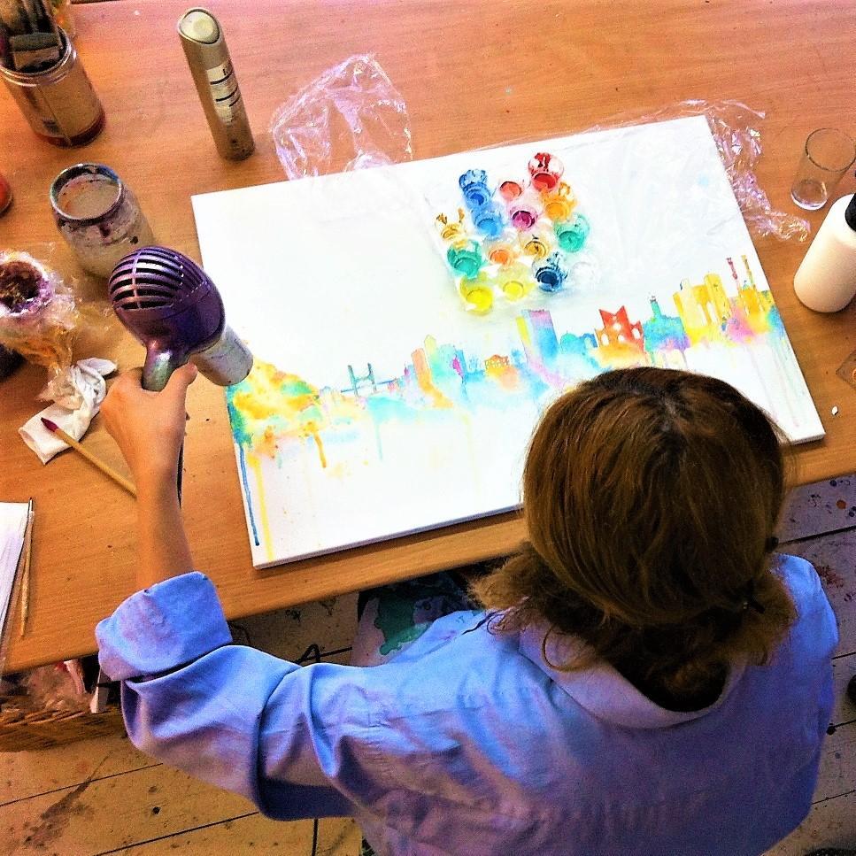 Style Hannover Freundinnen Malkurse Kuenstlerreich 2 - Freundinnen-Workshop im Atelier Künstlerstreich