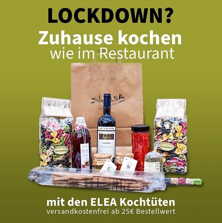 style hannover elea kochtuete - ELEA Olivenöl, Wein, Gutes - Kochtüte & Drink-Sets